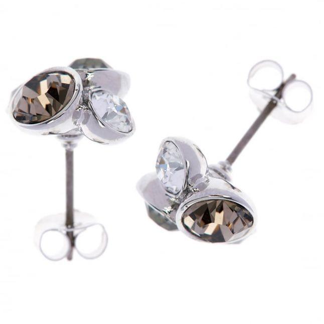 Womens Silver & Crystal Lynda Cluster Studs