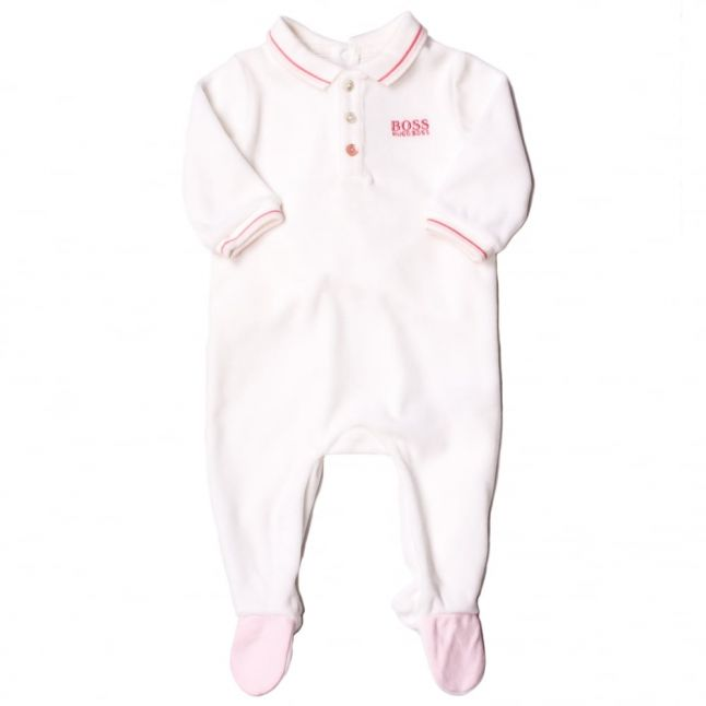Baby White Polo Shirt Babygrow