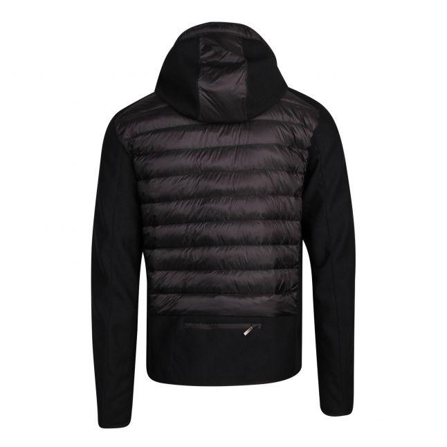Mens Black Nolan Hybrid Hooded Jacket