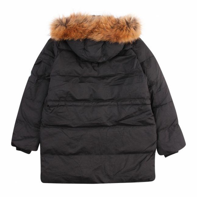 Boys Black Winston Fur Hooded Padded Coat