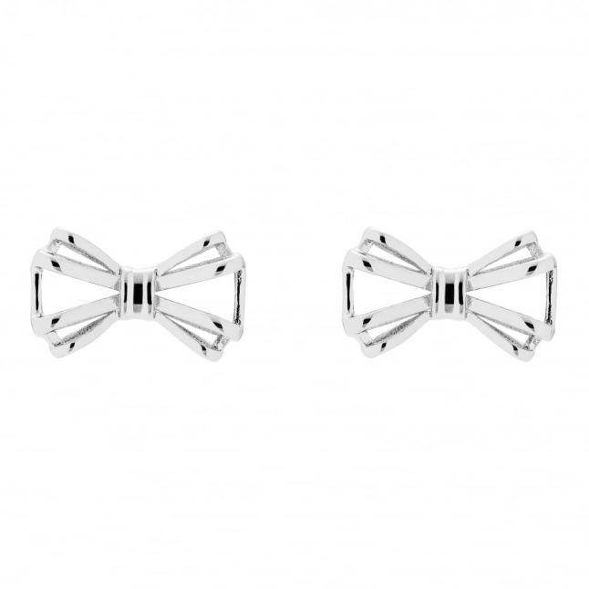 Womens Silver Sidony Bow Earring