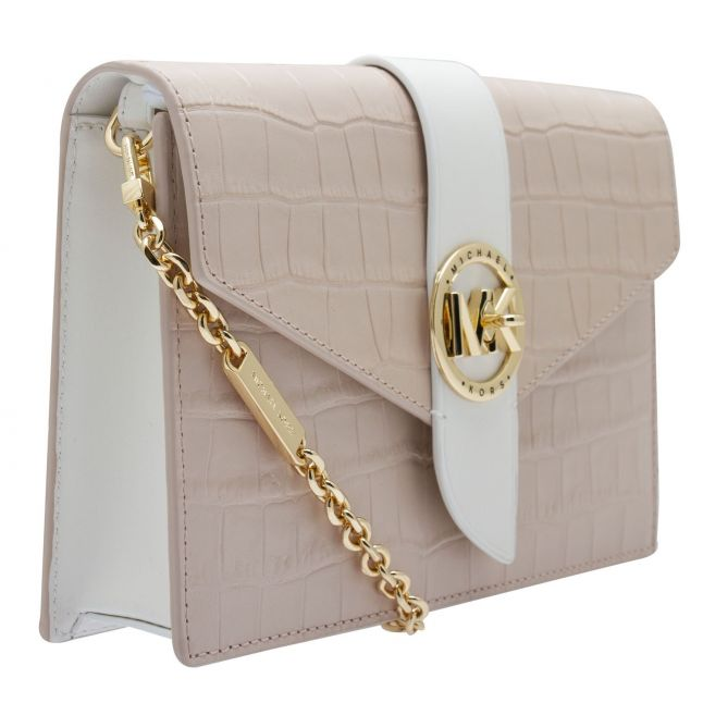 Michael Kors Womens Soft Pink Charm Croc Clutch Xbody