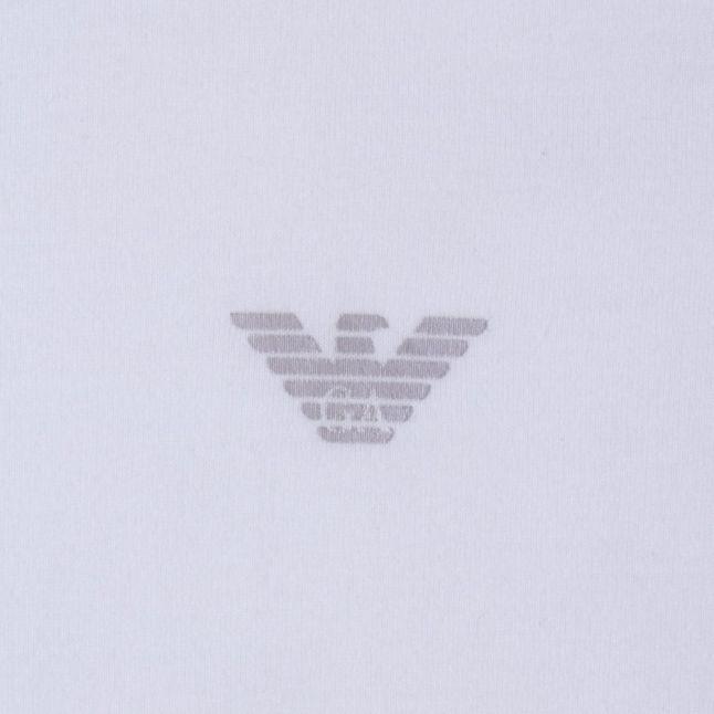 Mens White Small Logo Crew S/s Tee Shirt
