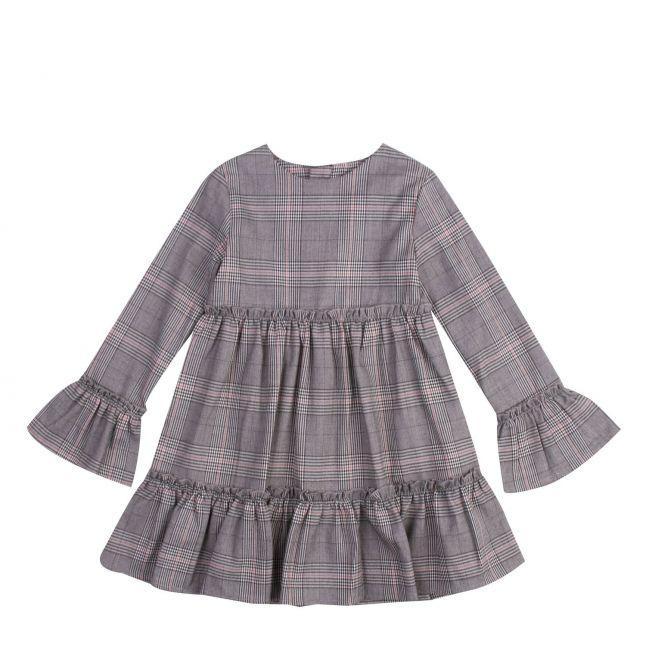 Girls Grey Check Smock Dress