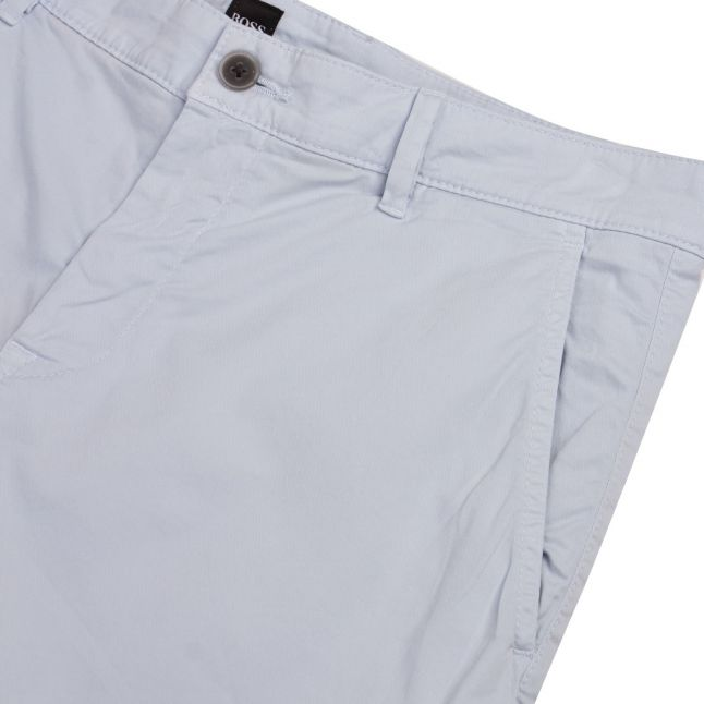 Casual Mens Pale Blue Schino-Slim Fit Shorts