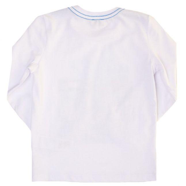 Boys White Marvel L/s Tee Shirt