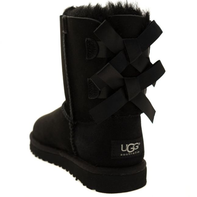 Kids Black Bailey Bow Boots (12-3)