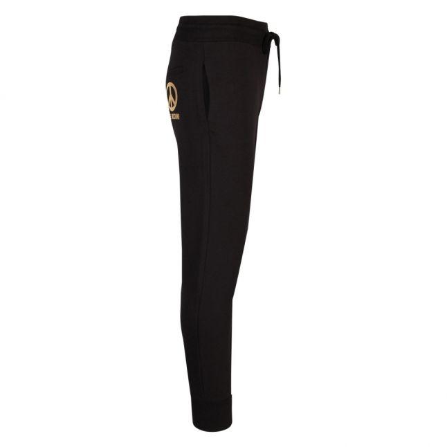 Mens Black/Gold Peace Logo Sweat Pants