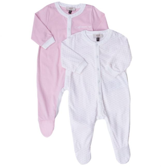 Baby Pink 2 Pack Babygrow Set