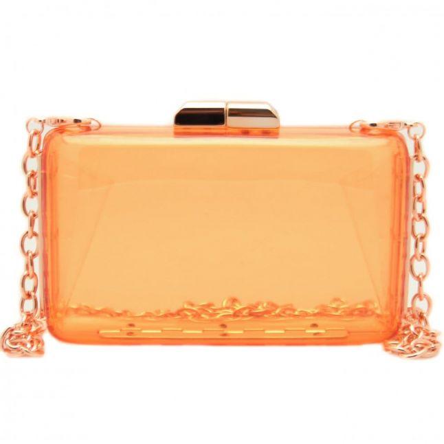 Womens Pink Texie Resin Box Clutch Bag