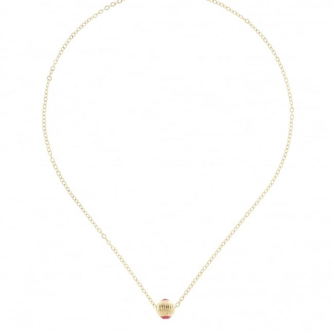 Womens Gold & Indian Pink Allya Pendant Necklace