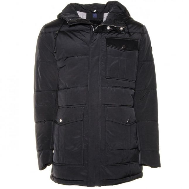 Mens Black Label Hood Coat