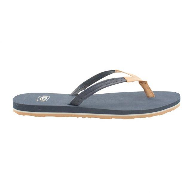 Womens Navy Magnolia Flip Flops