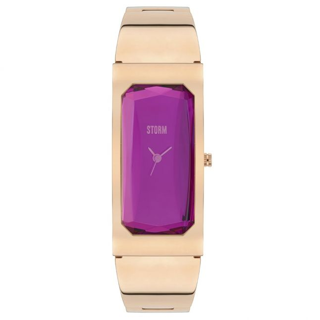 Womens Purple Dial Rose Gold Trixie Watch