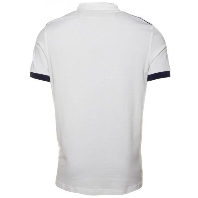 Mens Snow White Taped Pique S/s Polo Shirt