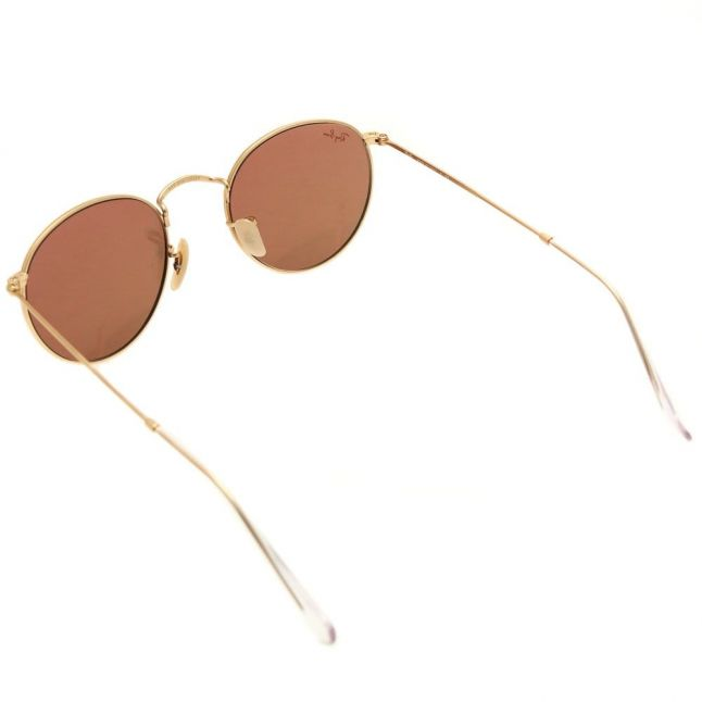 Gold Mirror RB3447 Round Metal Sunglasses