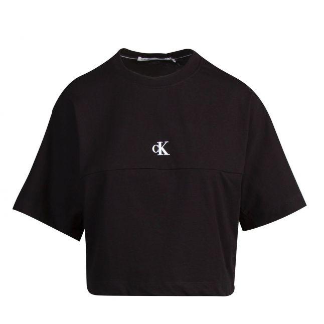 Calvin Klein Womens Black Back Print Logo S/s T Shirt