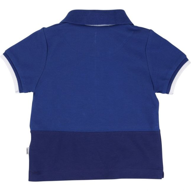 Baby Blue Panel S/s Polo Shirt