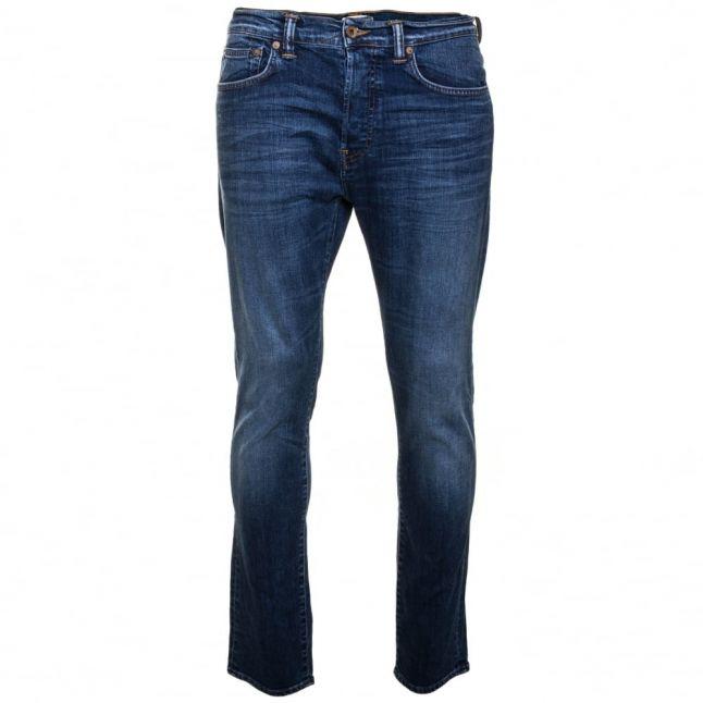 Mens 11oz F8.M5 Blue Mid Trip Wash ED-80 Slim Tapered Fit Jeans