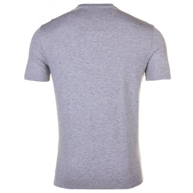 Mens Grey Embroidered Logo Regular Fit S/s Tee Shirt
