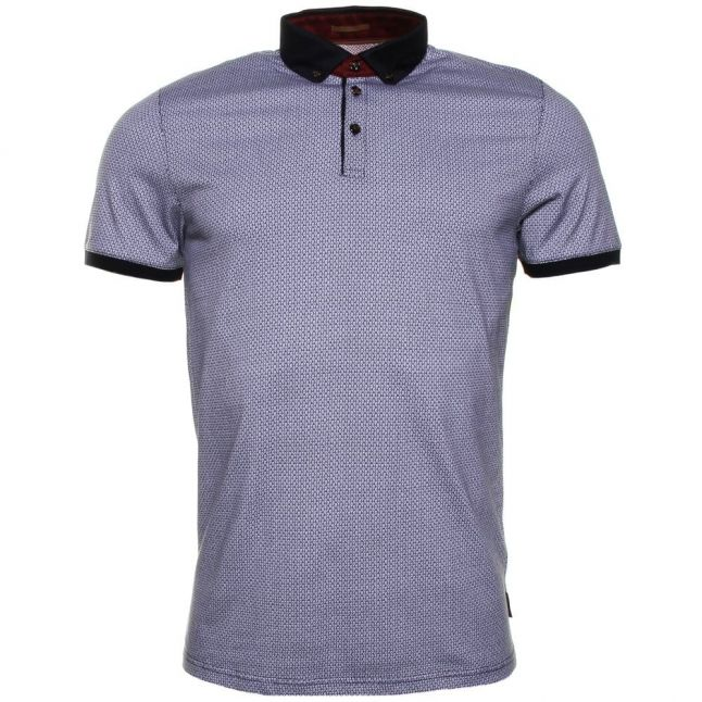Mens Navy Chapmun Geometric S/s Polo Shirt