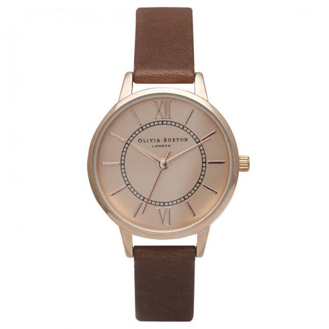 Womens Brown & Rose Gold Wonderland Watch