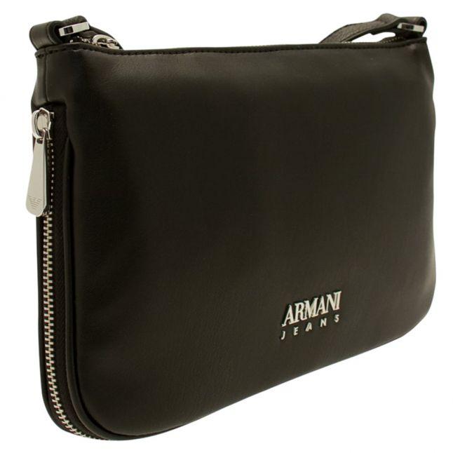 Womens Black Branded Shoulder Bag