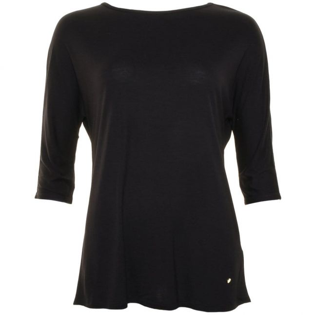 Womens Black Tor Curved Hem Top