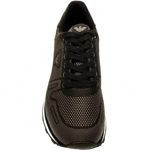 Mens Black Woven Trainers
