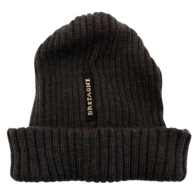 Paul & Shark Mens Charcoal Knitted Anchor Hat