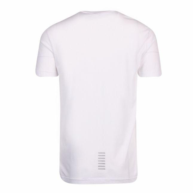 Mens White/Silver Train Core ID Pima S/s T Shirt