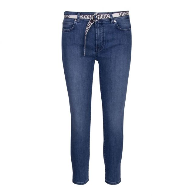 Womens Blue Charlie Crop Skinny Fit Jeans