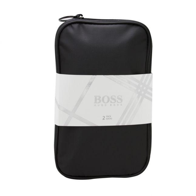 Mens Black 2 Pack Sock & Pouch Gift Set