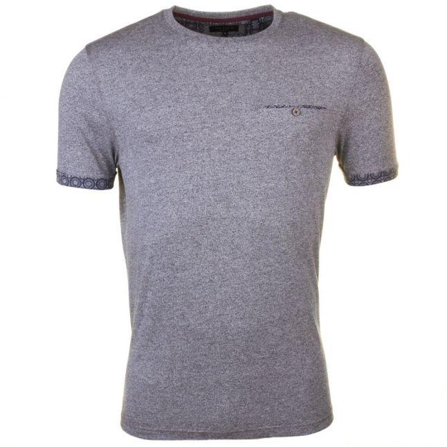 Mens Light Grey Junior Sleeve Detail Pocket S/s Tee Shirt