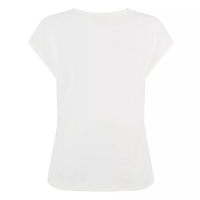 Womens Cream Sonjja Papyrus Woven Front S/s T Shirt