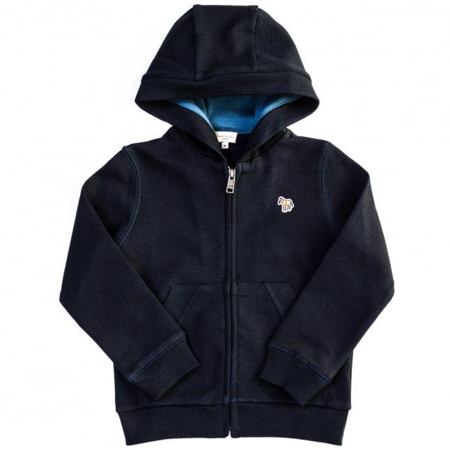 Boys Dark Navy Malloy Zip Hooded Sweat Top