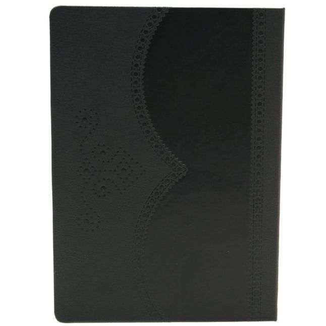 Black Brogue Large Lined Notebook