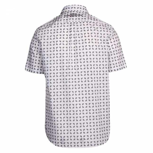 Mens White S-Akura-Short Printed S/s Shirt