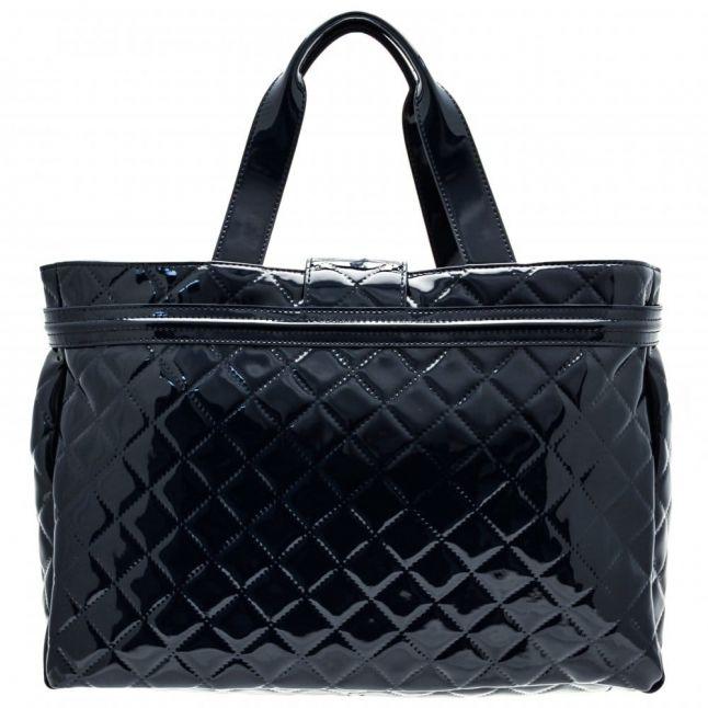 Womens Blue Diamond Quilted Shopper Bag