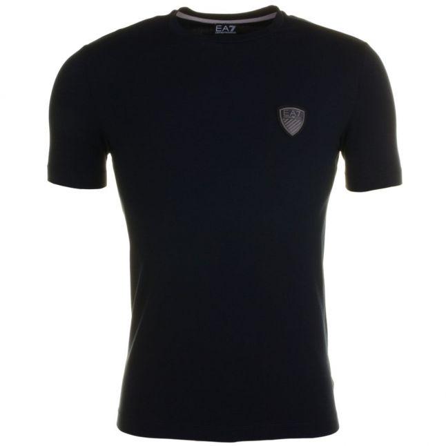Mens Navy Training Soccer Back Printed S/s Tee Shirt
