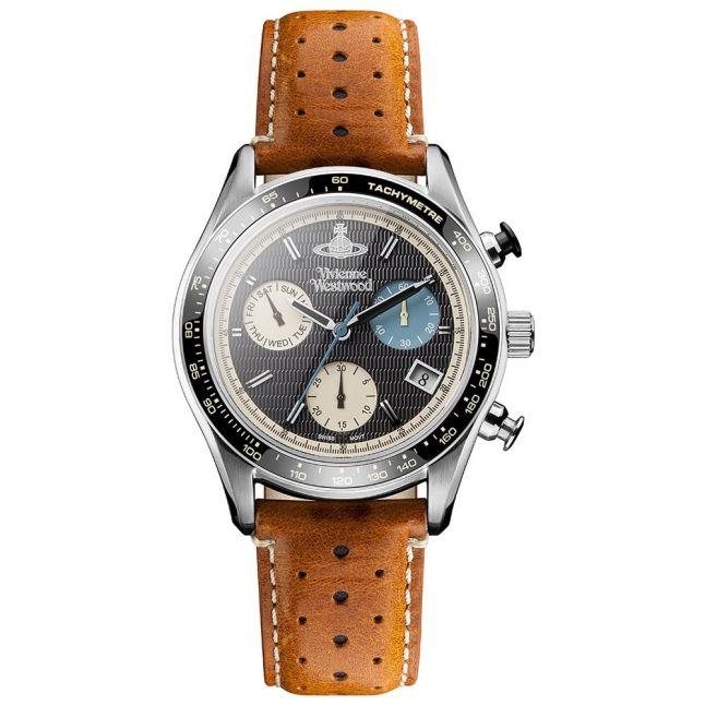Mens Tan & Black Sotheby Chrono Watch