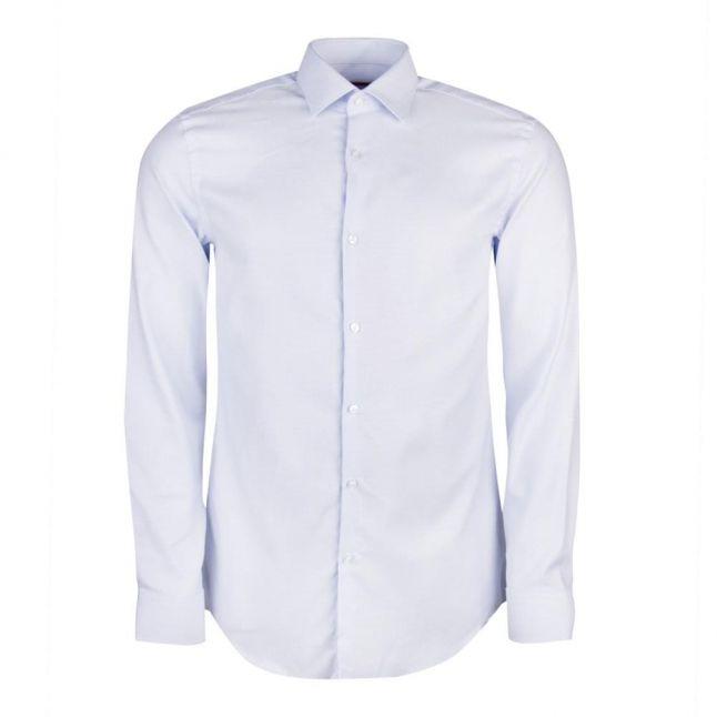Mens Light Blue Kenno Slim Fit L/s Shirt