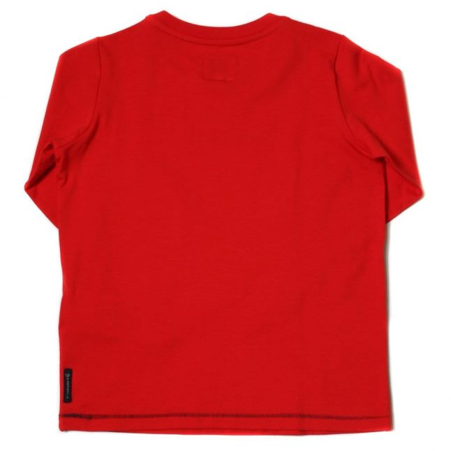 Boys Red Logo L/s Tee Shirt
