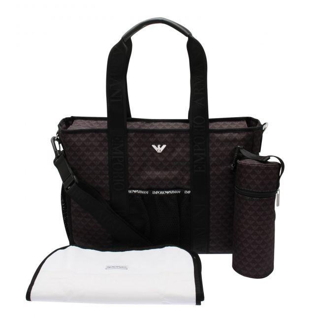 Baby Black Printed Logo Changing Bag