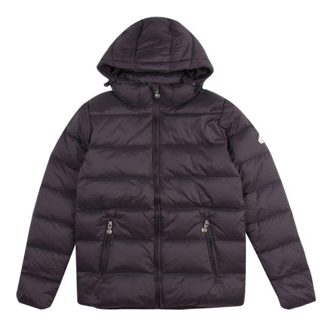 Boys Black Spoutnic Padded Hooded Jacket