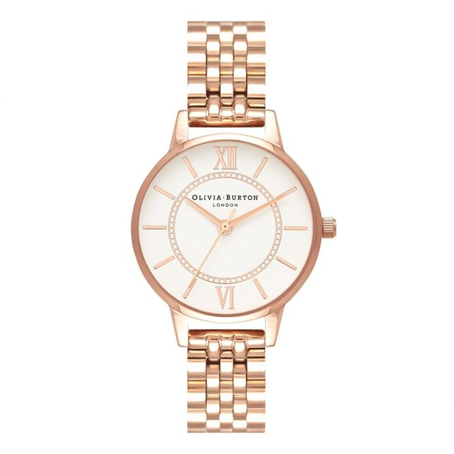 Womens Rose Gold Wonderland Bracelet Watch