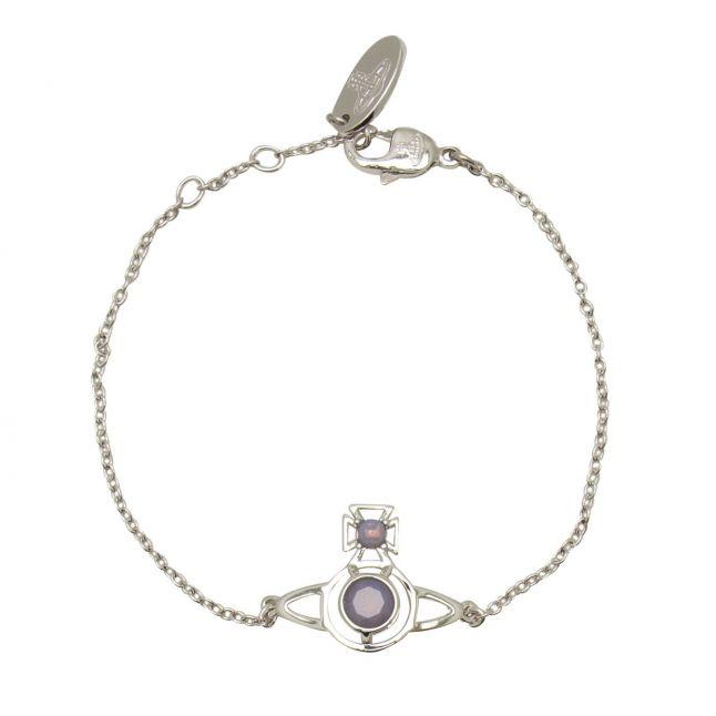 Womens Silver/Lavender Opal Nora Bracelet