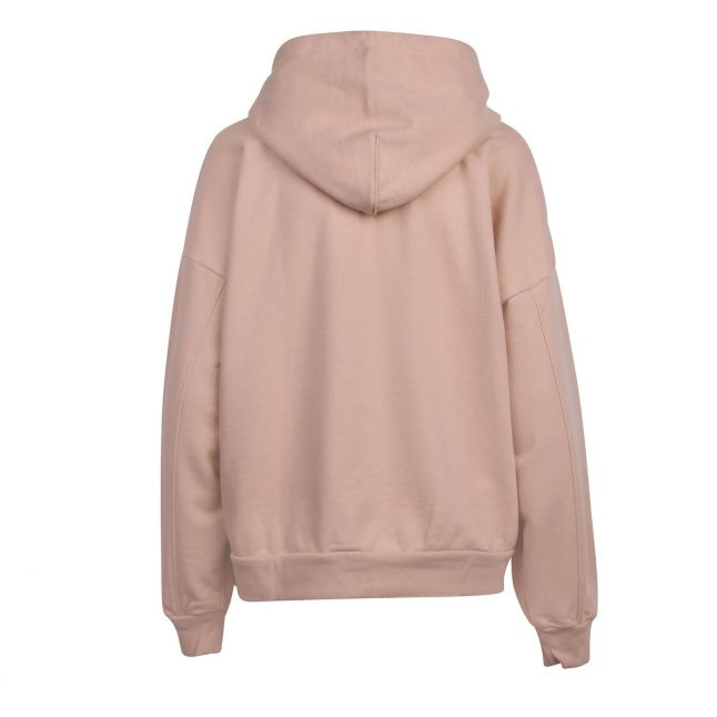 Womens Toasted Almond Graphic Serif Logo Hoodie