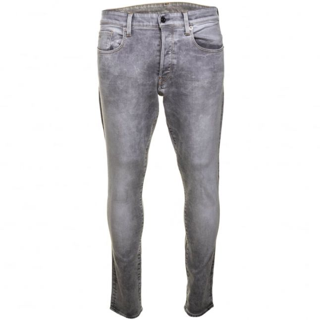 Mens Light Aged Wash 3301 Tapered Fit Jeans