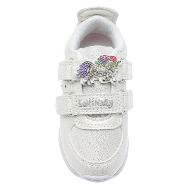Girls White Colorissima Lights Trainers (24-35)